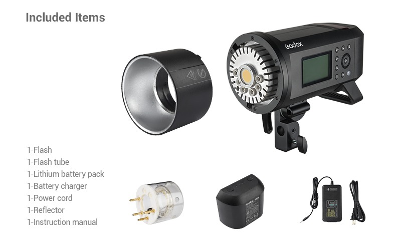 Godox AD600Pro Included Items.