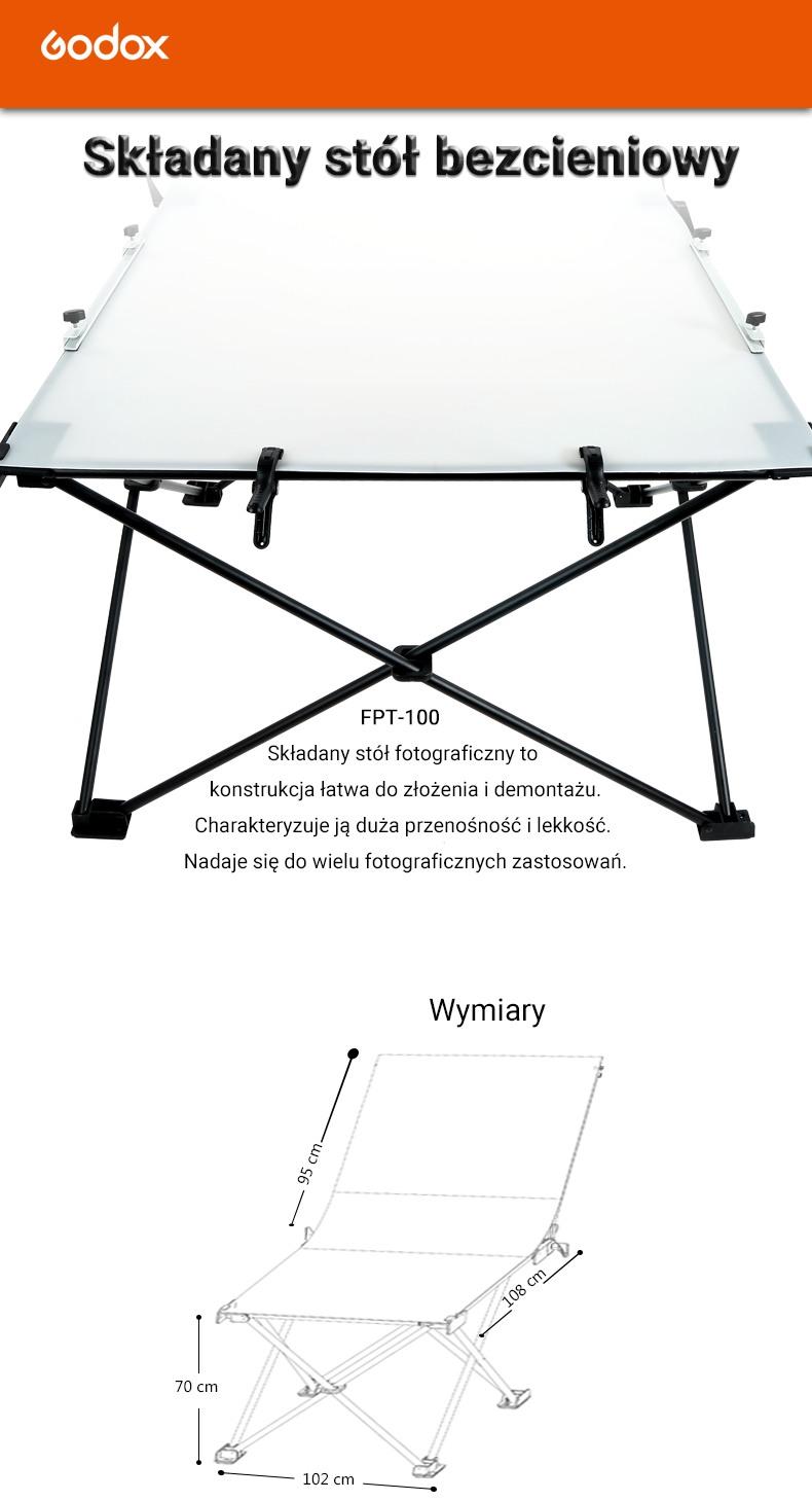 FPT100 Składany stół bezcieniowy Godox