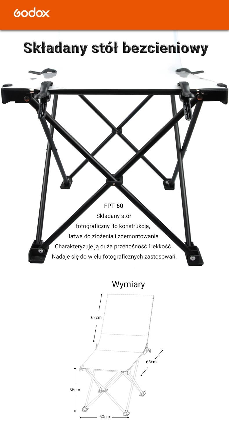 Składany stół bezcieniowy Godox