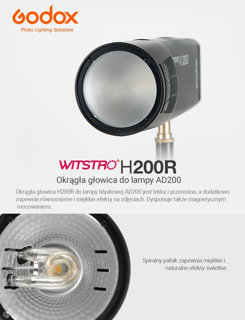 Godox H200R, Okrągła głowica do lampy AD200