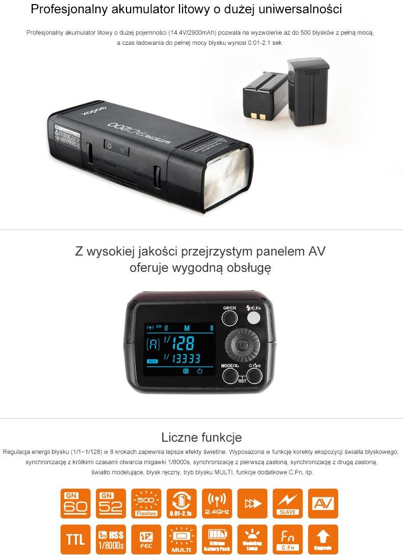 Profesjonalny akumulator litowy o dużej uniwersalności, przejrzysty panel AV, wygodna obsługa, liczne funkcje