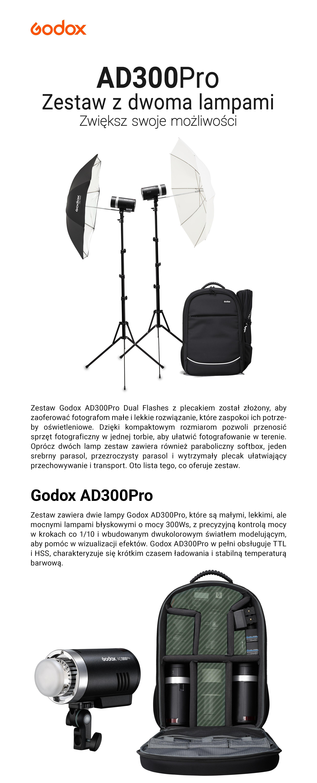 Godox AD300Pro Zestaw z dwoma lampami