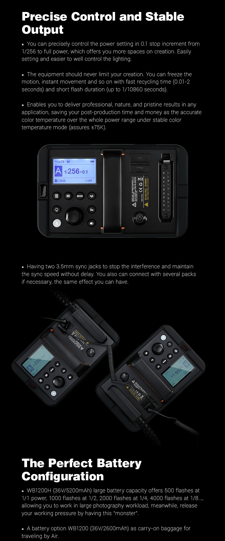 Godox AD1200Pro 1200Ws TTL Power Pack Kit. Precise Control and Stable Output. The perfect Battery Configuration.