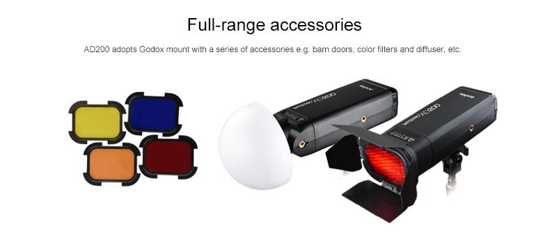 Godox AD200 full range accesories