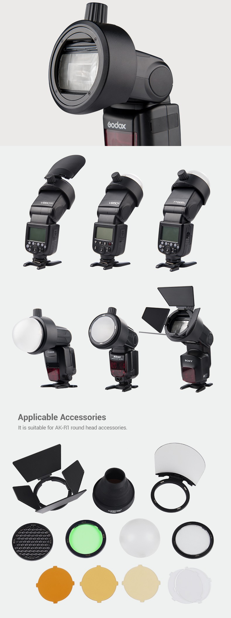 Godox S-R1 applicable Accesories