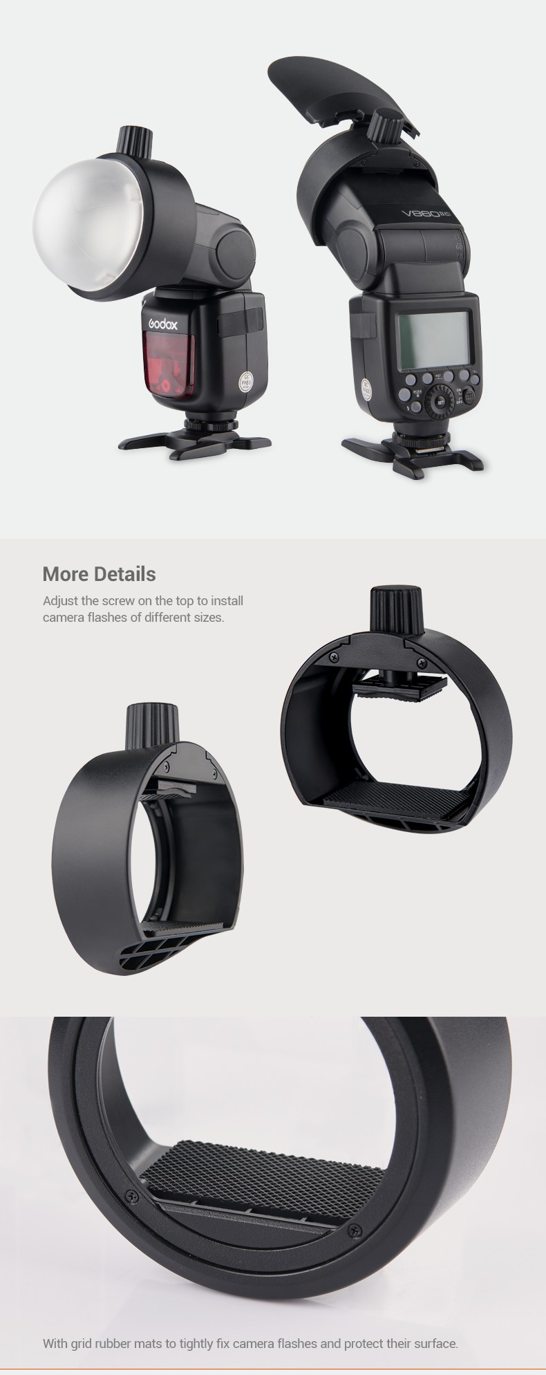 Godox S-R1 Round Head more details and features