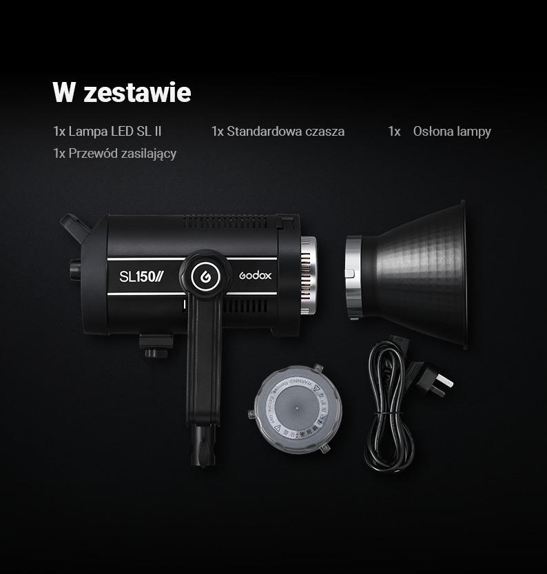Lampa Wideo SL150 i SL200 II. W zestawie: