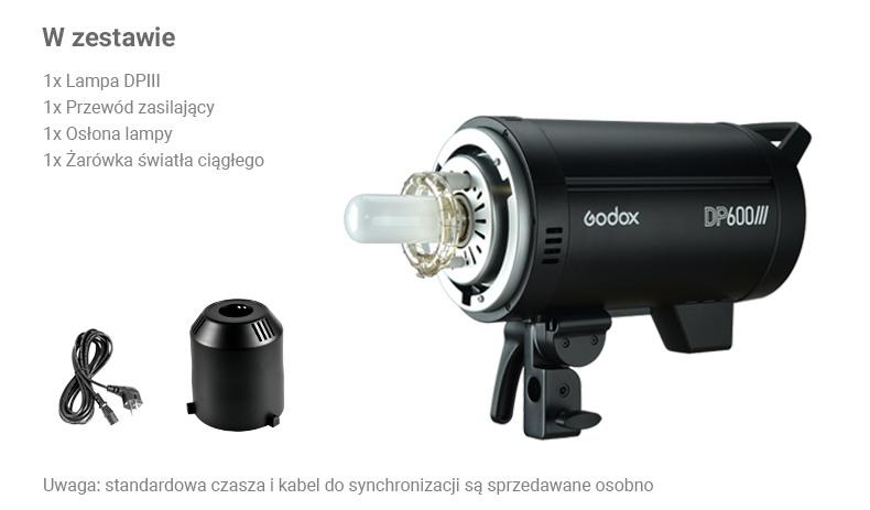 Godox seria DP II. DP400/DP600. Co znajduje się w zestawie