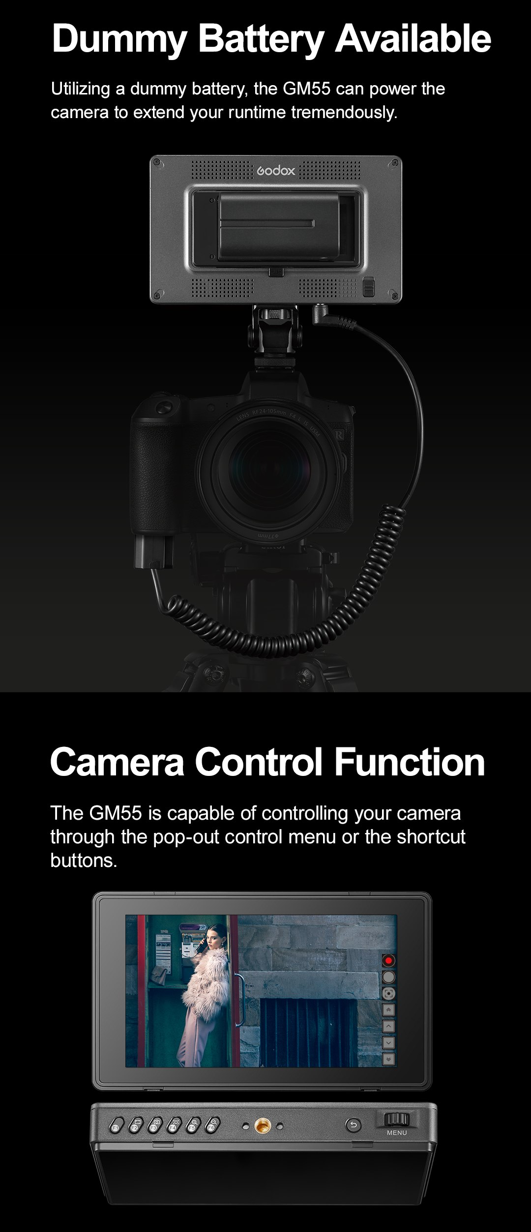 Dummy Battery Available Camera Control Function