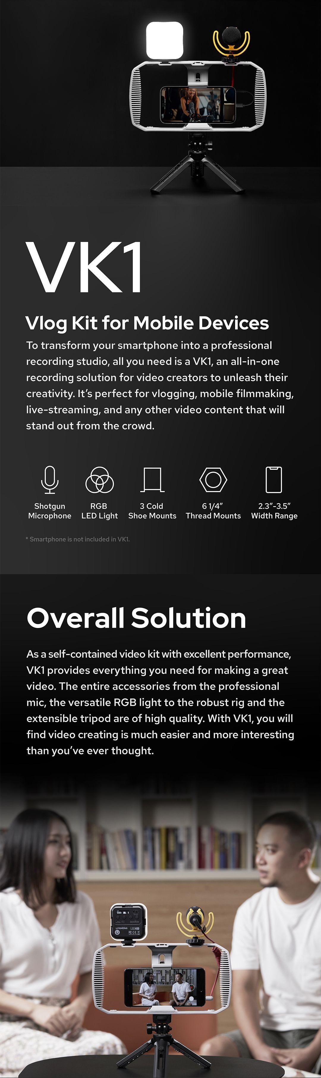 Godox VK1 Vlog Kit for Mobile Devices